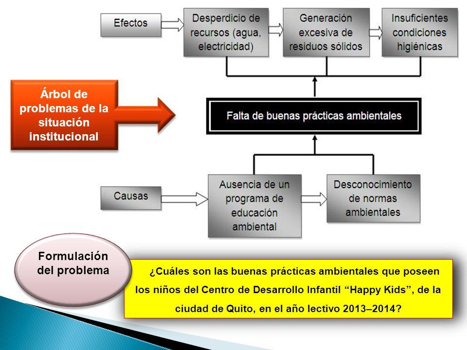 Árbol de problemas de la situación institucional