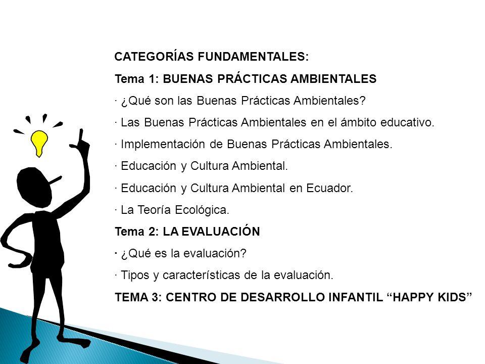 CATEGORÍAS FUNDAMENTALES: