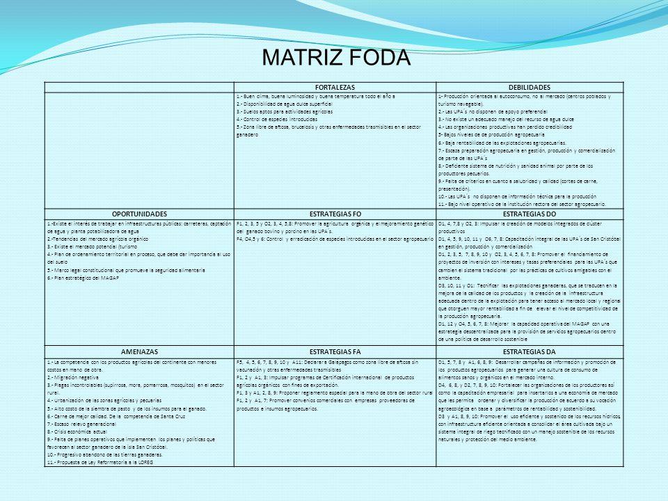 MATRIZ FODA FORTALEZAS DEBILIDADES OPORTUNIDADES ESTRATEGIAS FO
