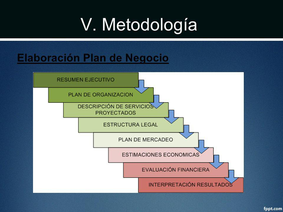 V. Metodología Elaboración Plan de Negocio