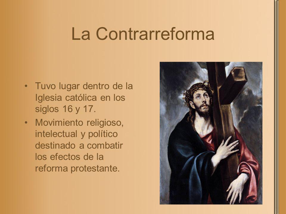 La Contrarreforma Tuvo lugar dentro de la Iglesia católica en los siglos 16 y 17.