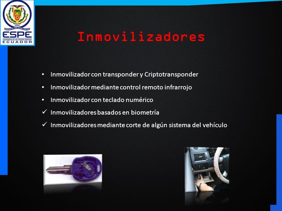 Inmovilizadores Inmovilizador con transponder y Criptotransponder