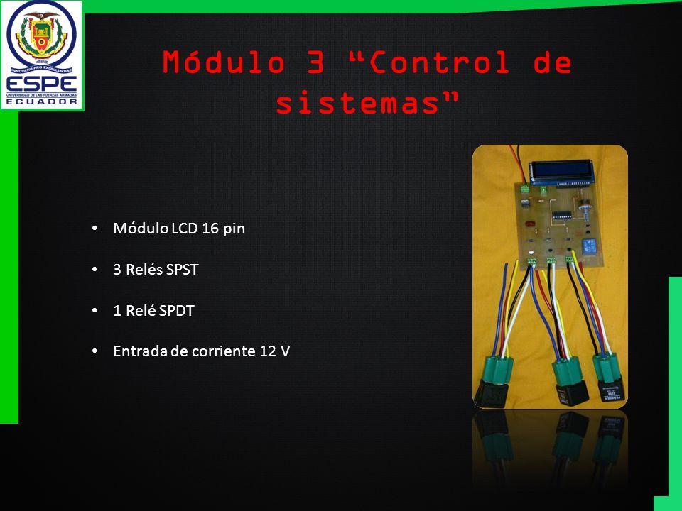 Módulo 3 Control de sistemas