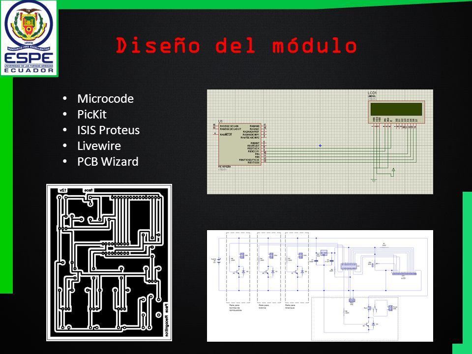 Diseño del módulo Microcode PicKit ISIS Proteus Livewire PCB Wizard