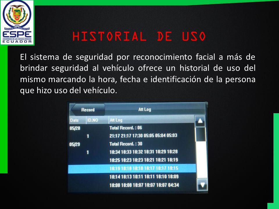 HISTORIAL DE USO