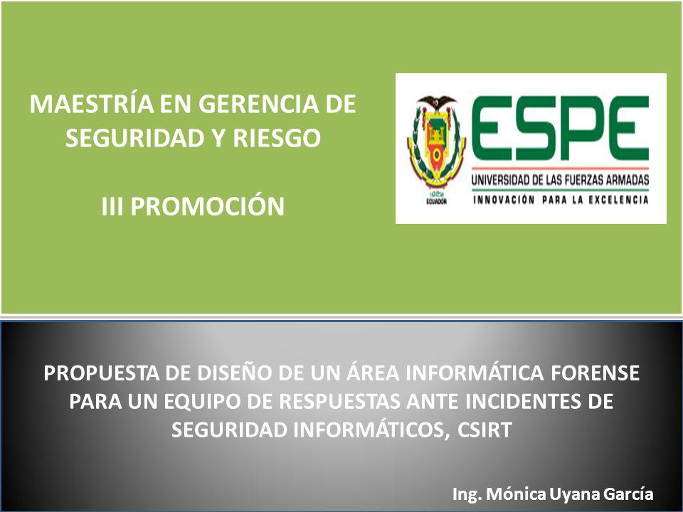 MAESTRÍA EN GERENCIA DE SEGURIDAD Y RIESGO III PROMOCIÓN