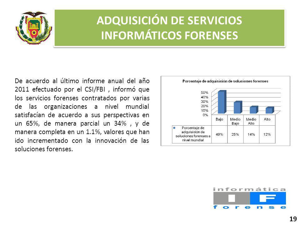 ADQUISICIÓN DE SERVICIOS INFORMÁTICOS FORENSES