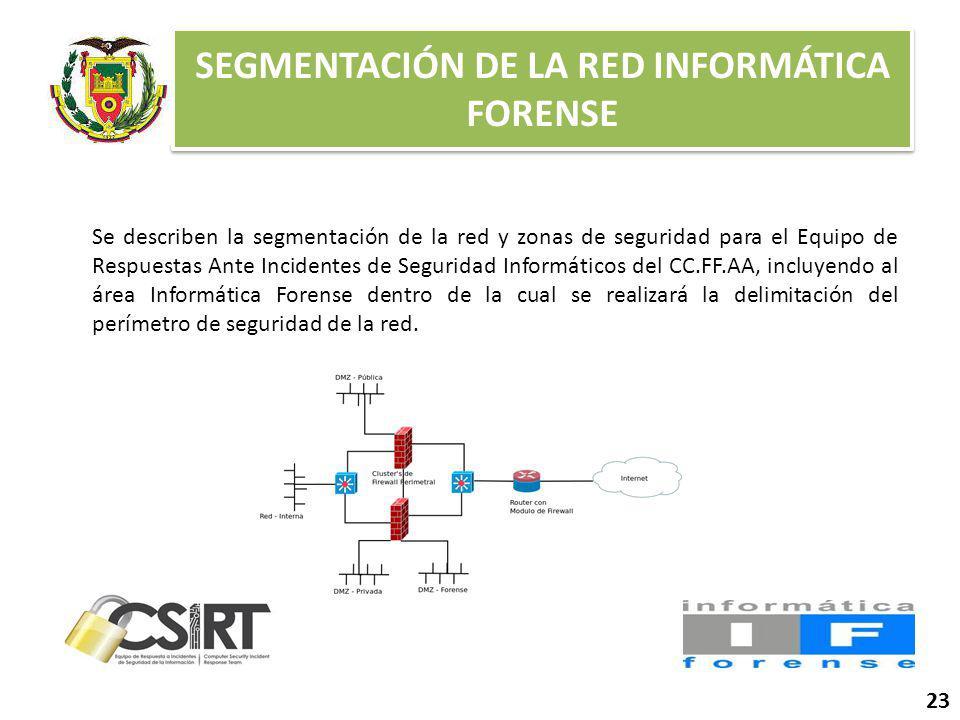 SEGMENTACIÓN DE LA RED INFORMÁTICA FORENSE