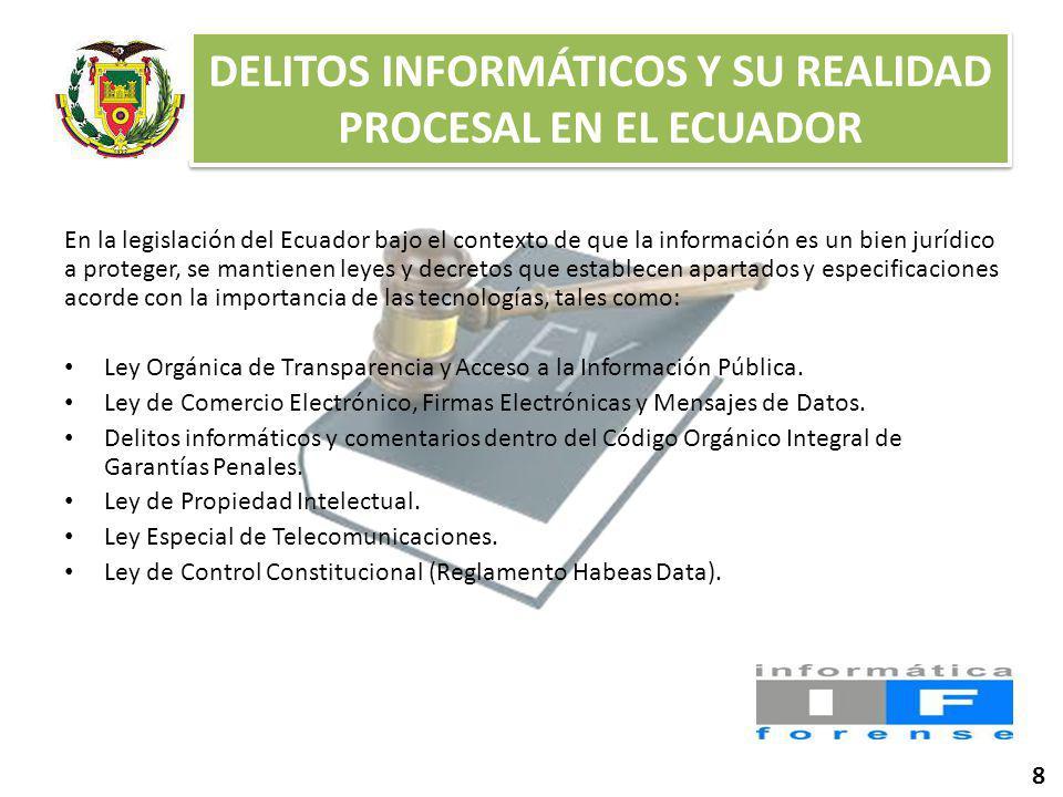 DELITOS INFORMÁTICOS Y SU REALIDAD PROCESAL EN EL ECUADOR