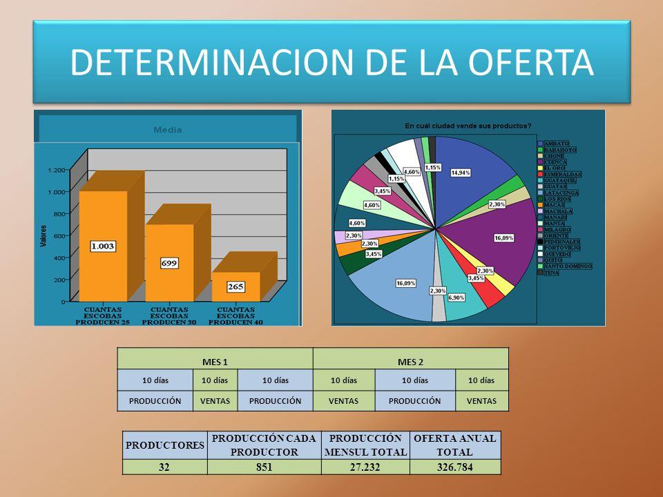 DETERMINACION DE LA OFERTA