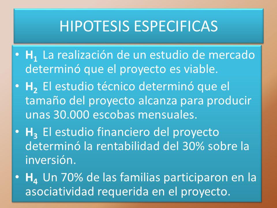 HIPOTESIS ESPECIFICAS