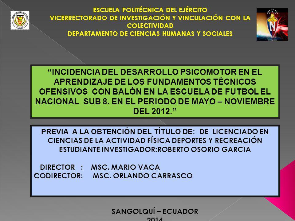 ESTUDIANTE INVESTIGADOR:ROBERTO OSORIO GARCIA