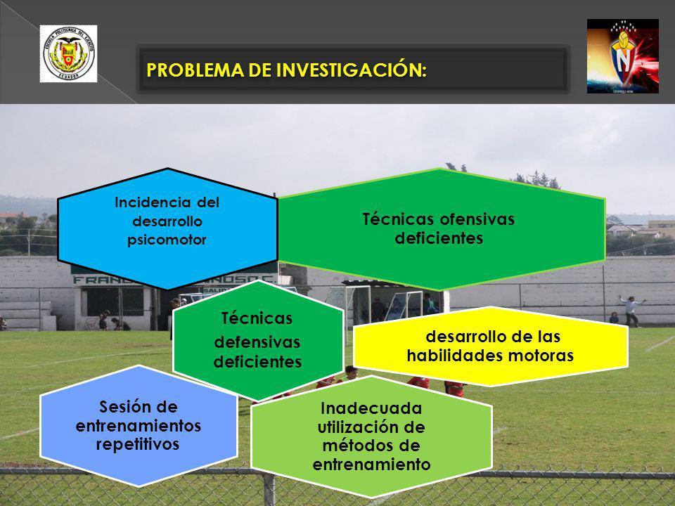 PROBLEMA DE INVESTIGACIÓN: