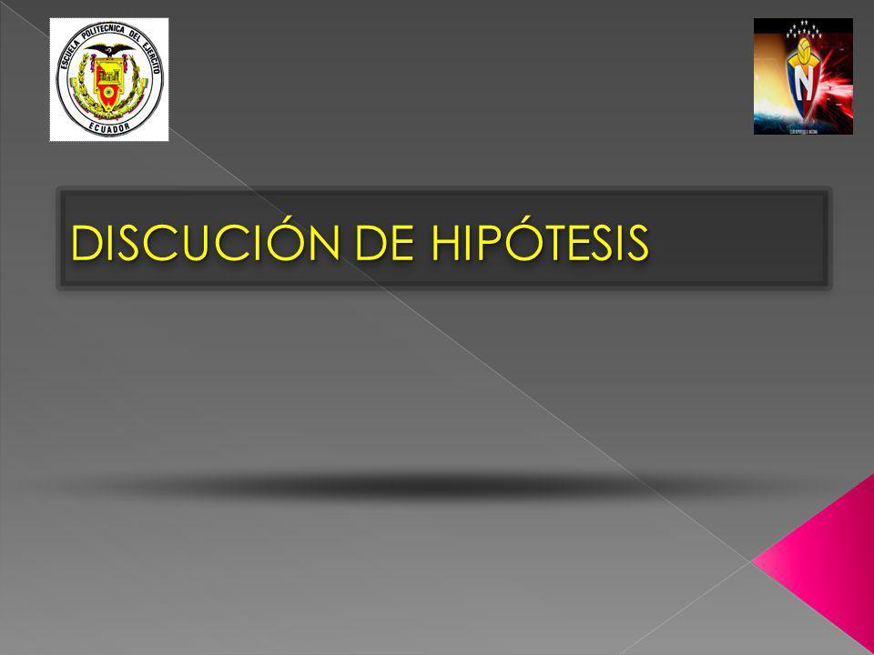 DISCUCIÓN DE HIPÓTESIS