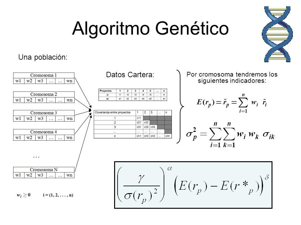Algoritmo Genético Una población: Datos Cartera: …