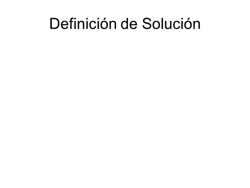 Definición de Solución