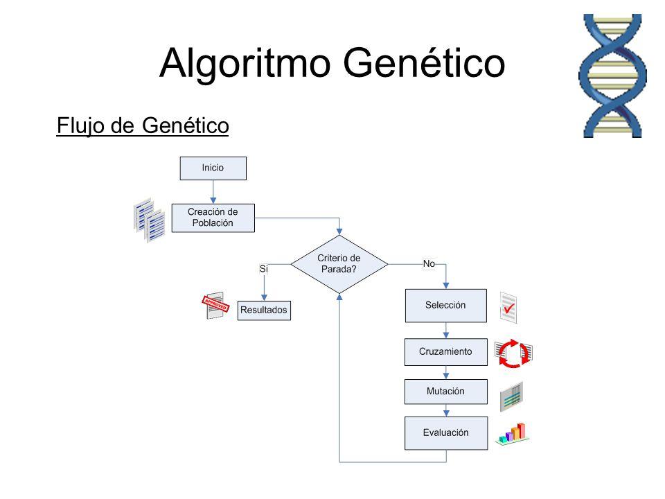 Algoritmo Genético Flujo de Genético Inicio de ciclo Reproductivo.