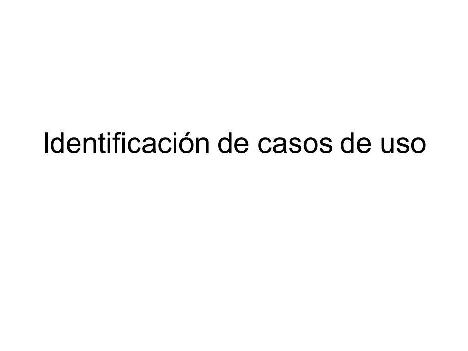 Identificación de casos de uso