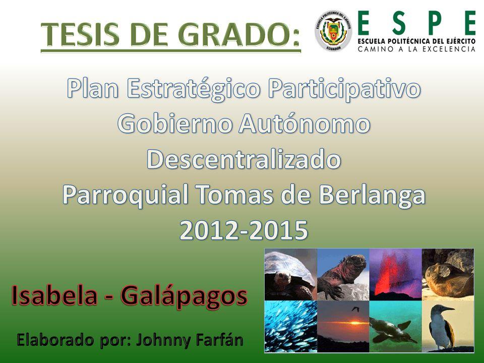TESIS DE GRADO: Plan Estratégico Participativo