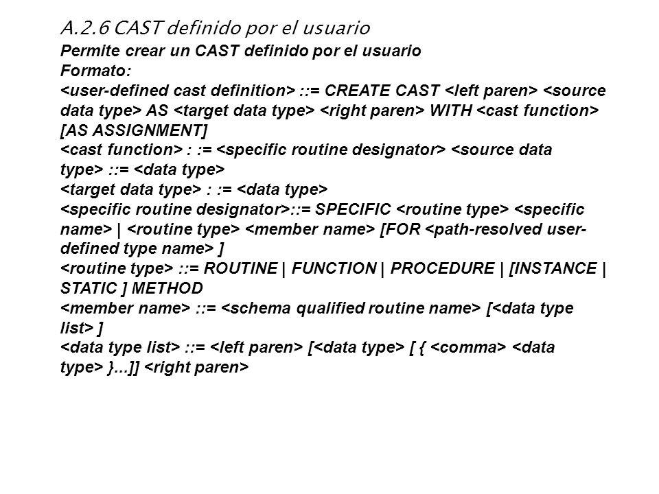 A.2.6 CAST definido por el usuario