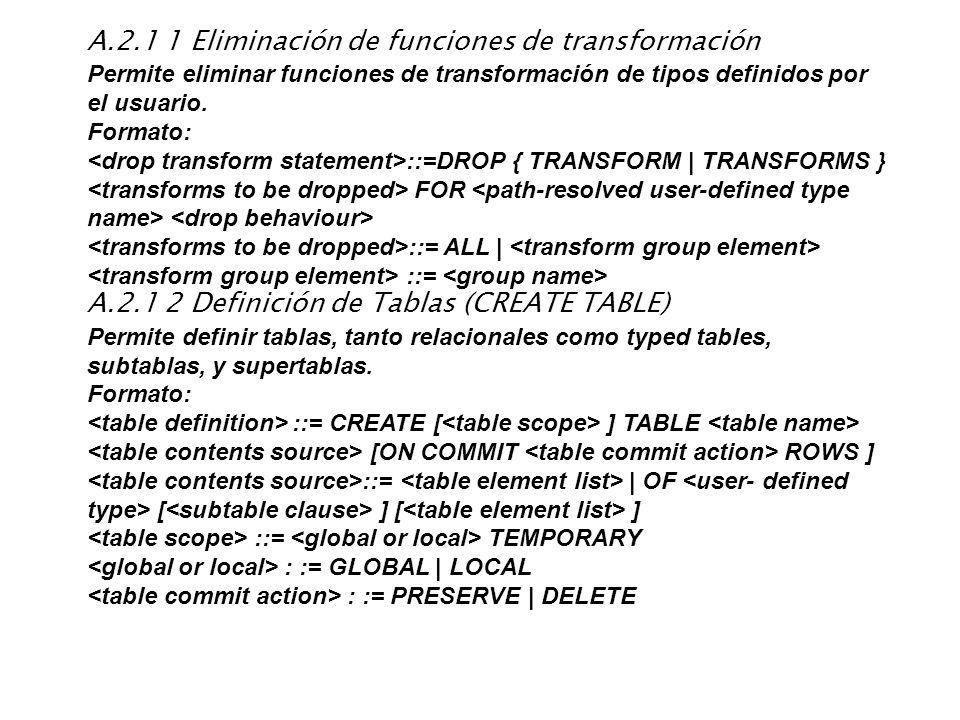A.2.1 1 Eliminación de funciones de transformación