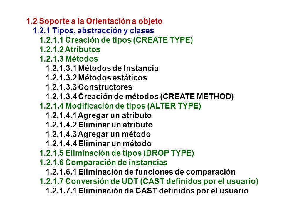 1.2 Soporte a la Orientación a objeto