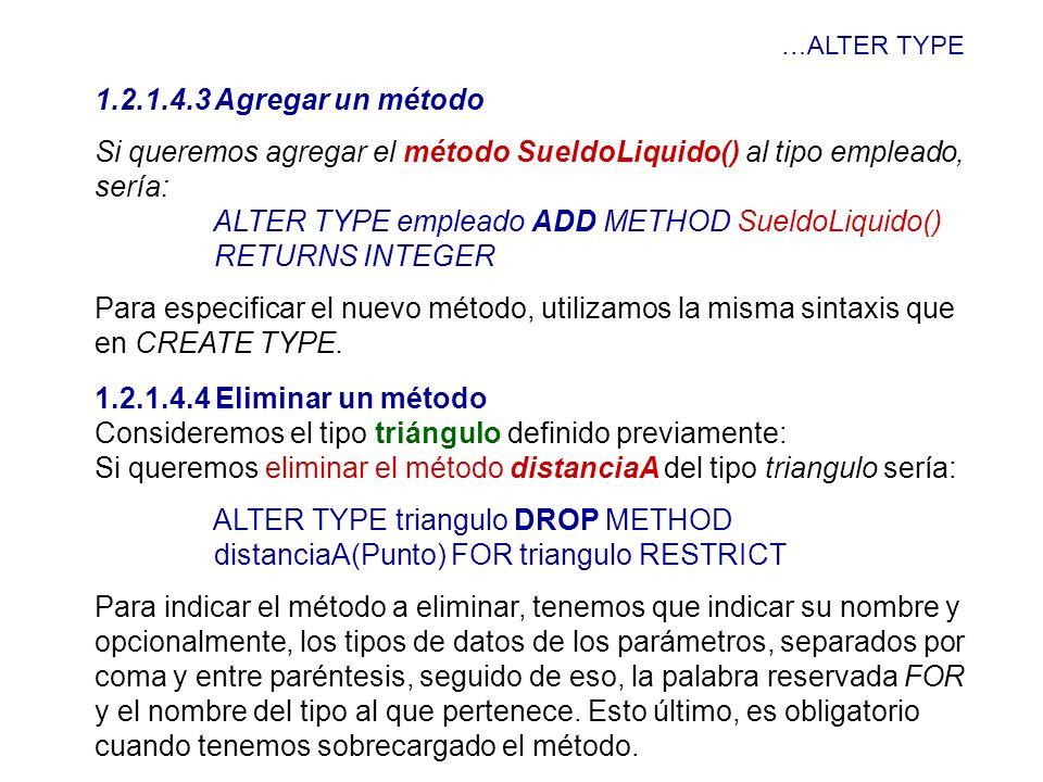 Si queremos agregar el método SueldoLiquido() al tipo empleado, sería: