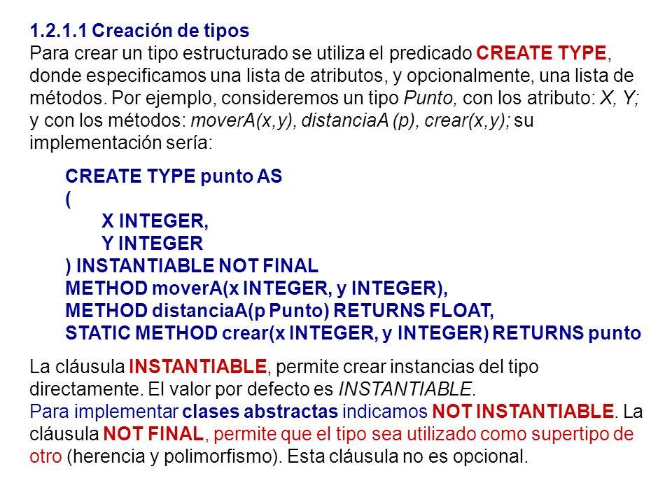 1.2.1.1 Creación de tipos