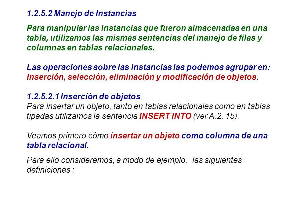 1.2.5.2 Manejo de Instancias