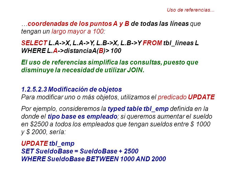 SELECT L.A->X, L.A->Y, L.B->X, L.B->Y FROM tbl_lineas L