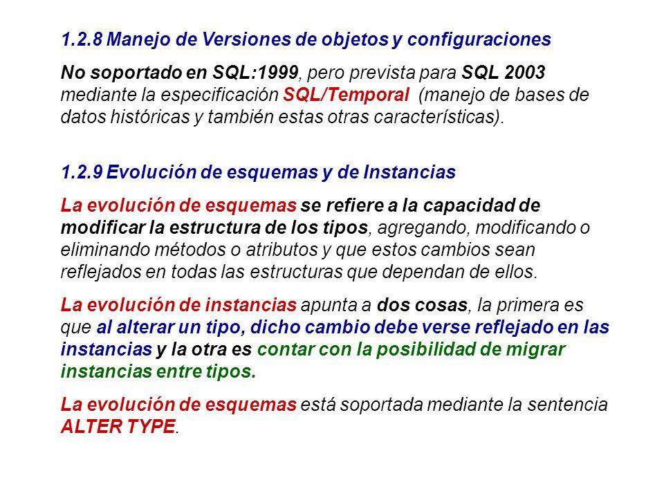 1.2.8 Manejo de Versiones de objetos y configuraciones