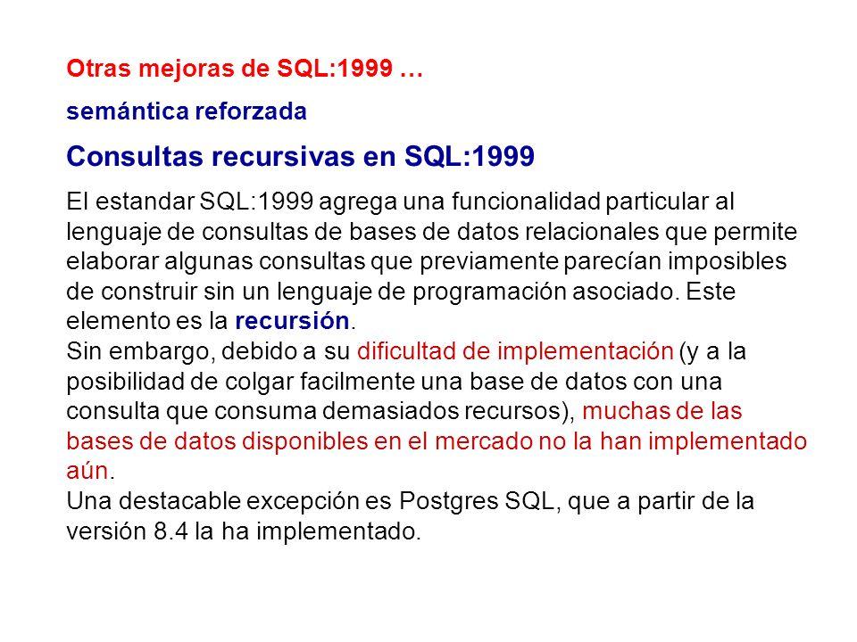 Consultas recursivas en SQL:1999