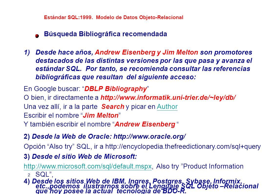 Búsqueda Bibliográfica recomendada