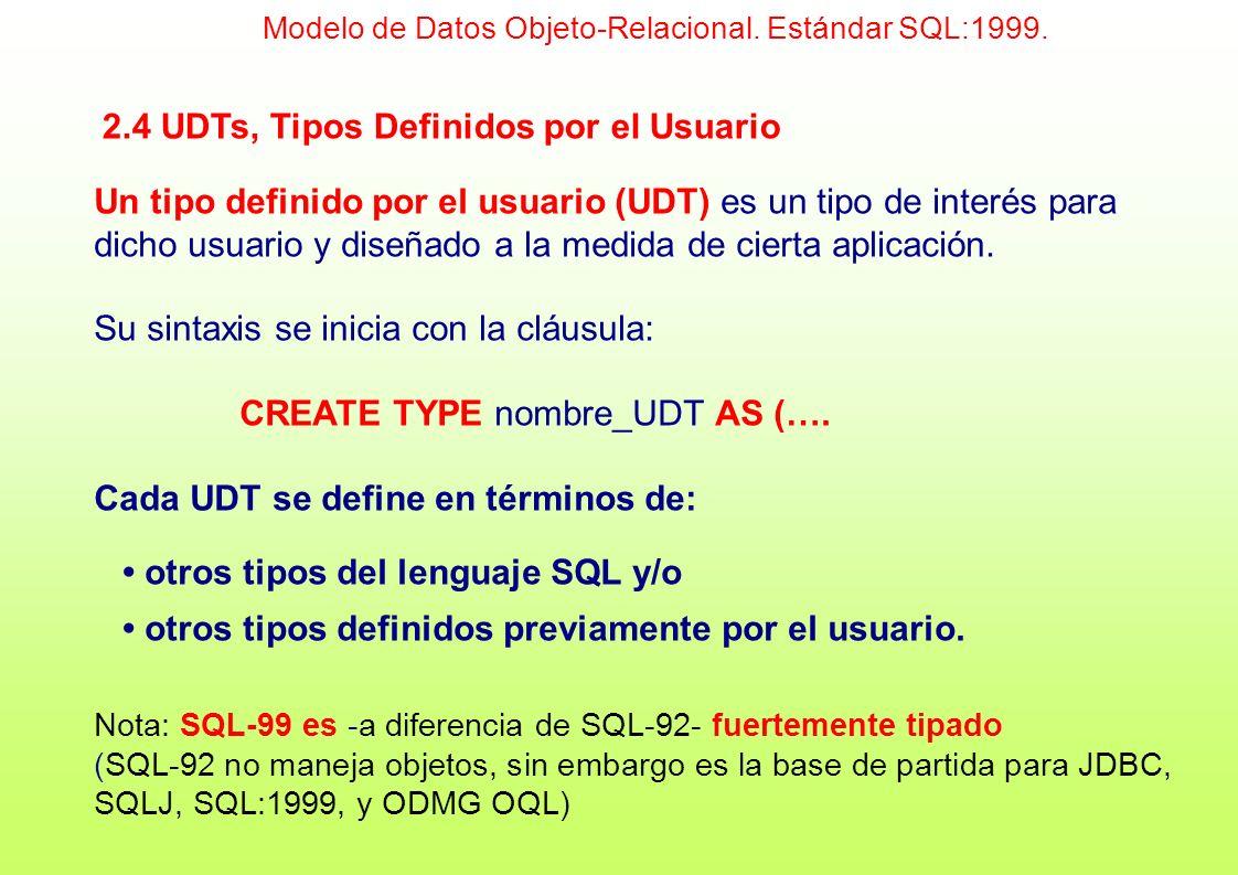 2.4 UDTs, Tipos Definidos por el Usuario