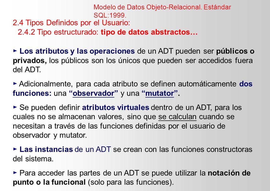 2.4 Tipos Definidos por el Usuario: