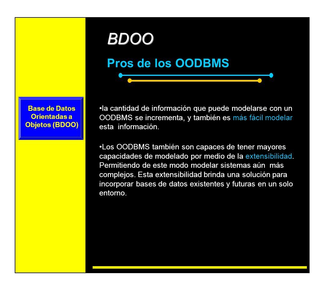 Base de Datos Orientadas a Objetos (BDOO)