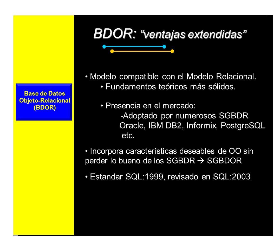 Base de Datos Objeto-Relacional (BDOR)