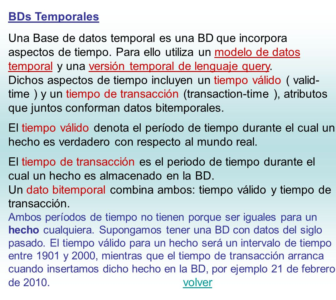 BDs Temporales