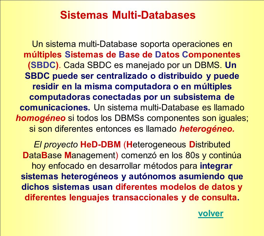 Sistemas Multi-Databases