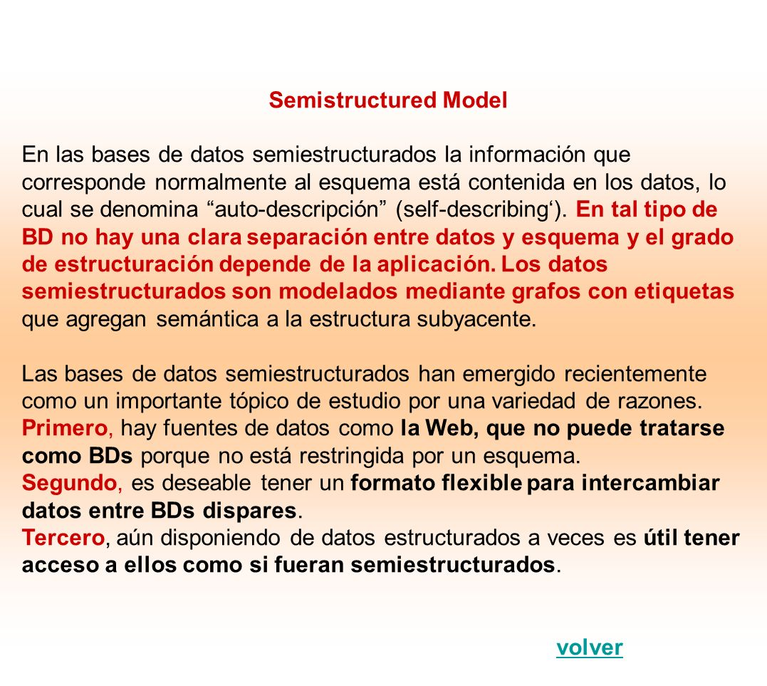 Semistructured Model
