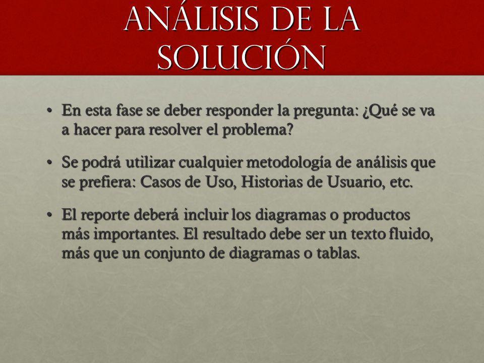 Análisis de la solución