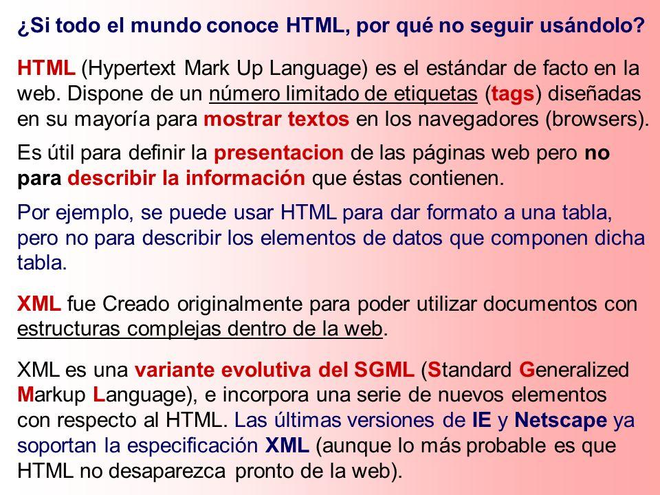 ¿Si todo el mundo conoce HTML, por qué no seguir usándolo