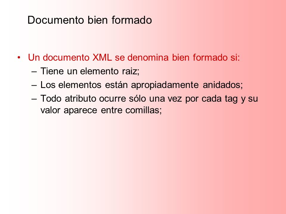 Documento bien formado