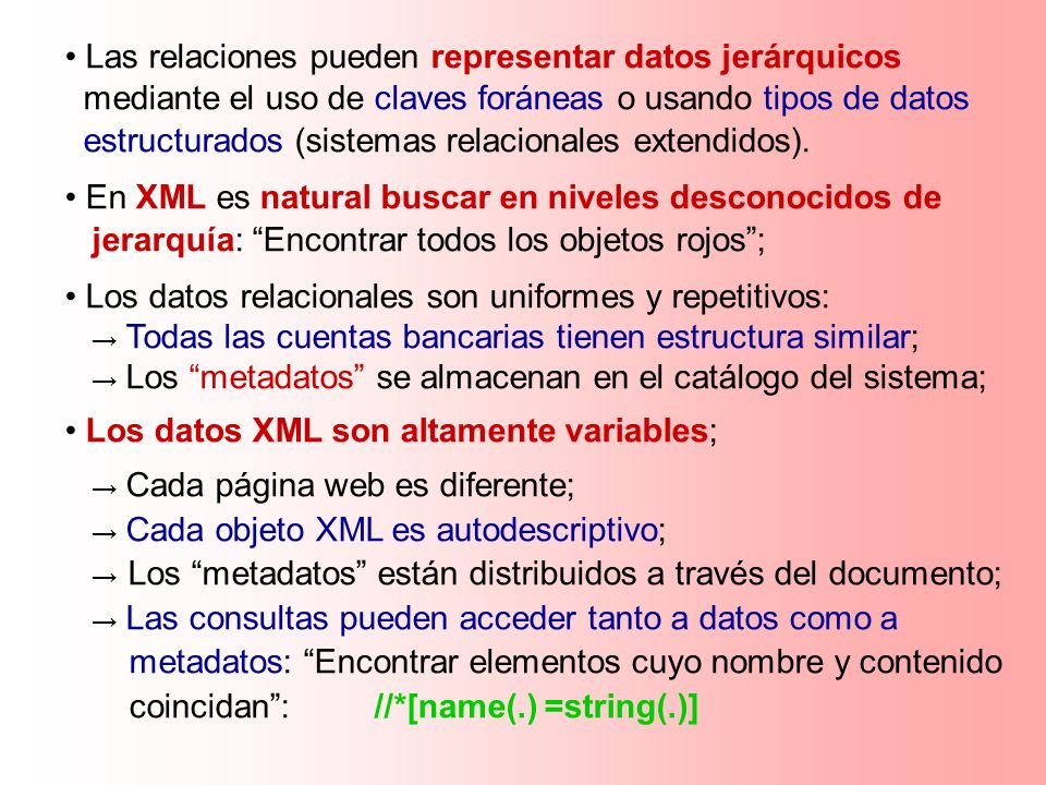 Las relaciones pueden representar datos jerárquicos