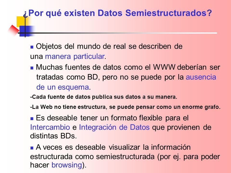 ¿Por qué existen Datos Semiestructurados