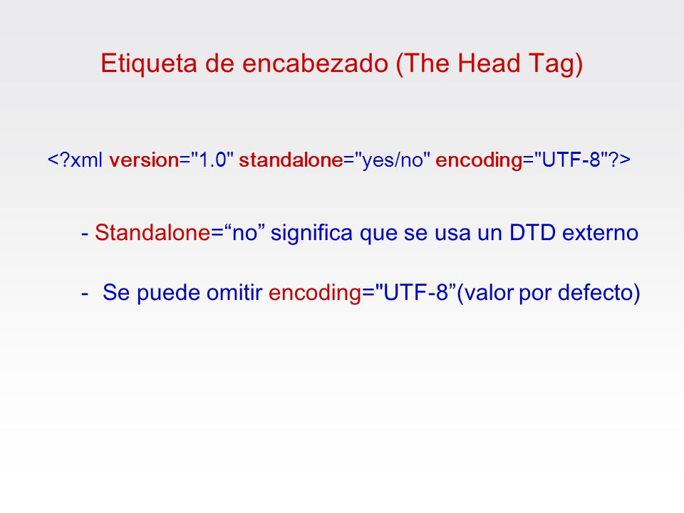 Etiqueta de encabezado (The Head Tag)