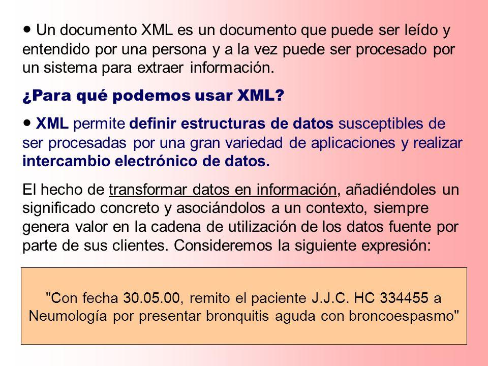 ¿Para qué podemos usar XML