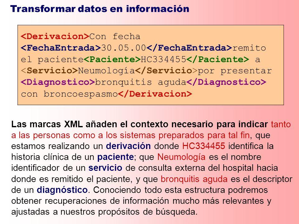Transformar datos en información