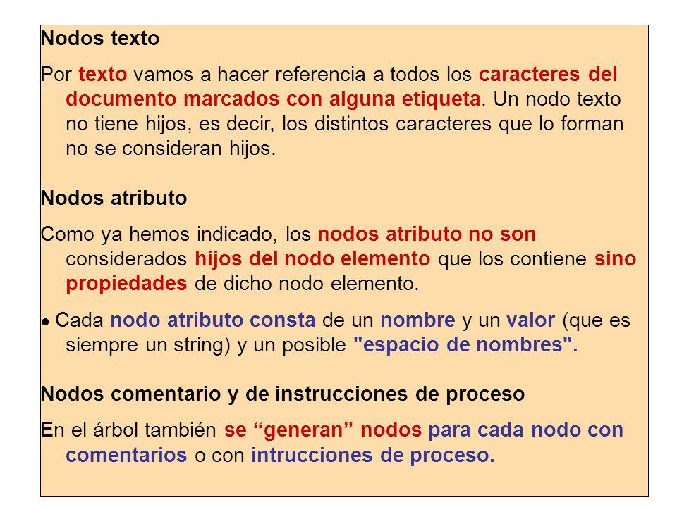 Nodos comentario y de instrucciones de proceso