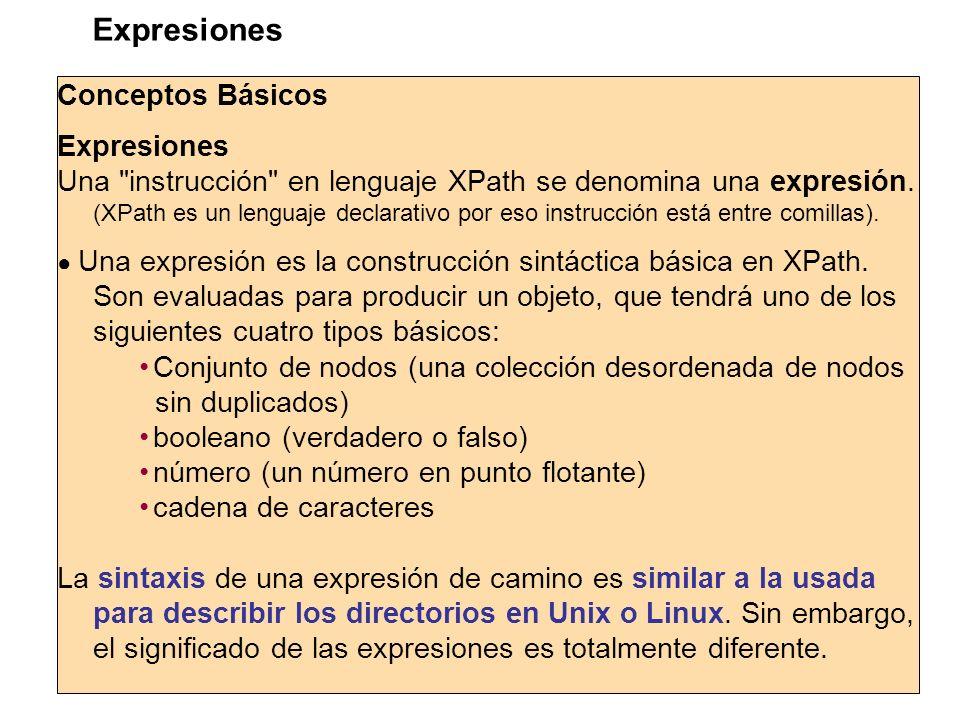 Expresiones Conceptos Básicos Expresiones